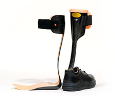 Orthotic prosthetic design for Floor reaction afo